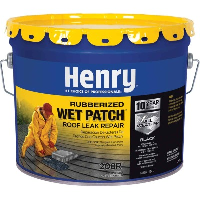 Henry Wet Patch 3.3 Gal. Rubberized Roof Cement and Patching Sealant