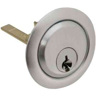Prime-Line 5-Pin Brass Diecast Rim Cylinder Lock with Trim Ring