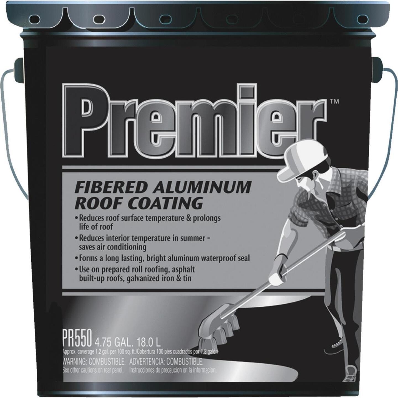 Premier 5 Gal. Fibered Aluminum Roof Coating Image 1