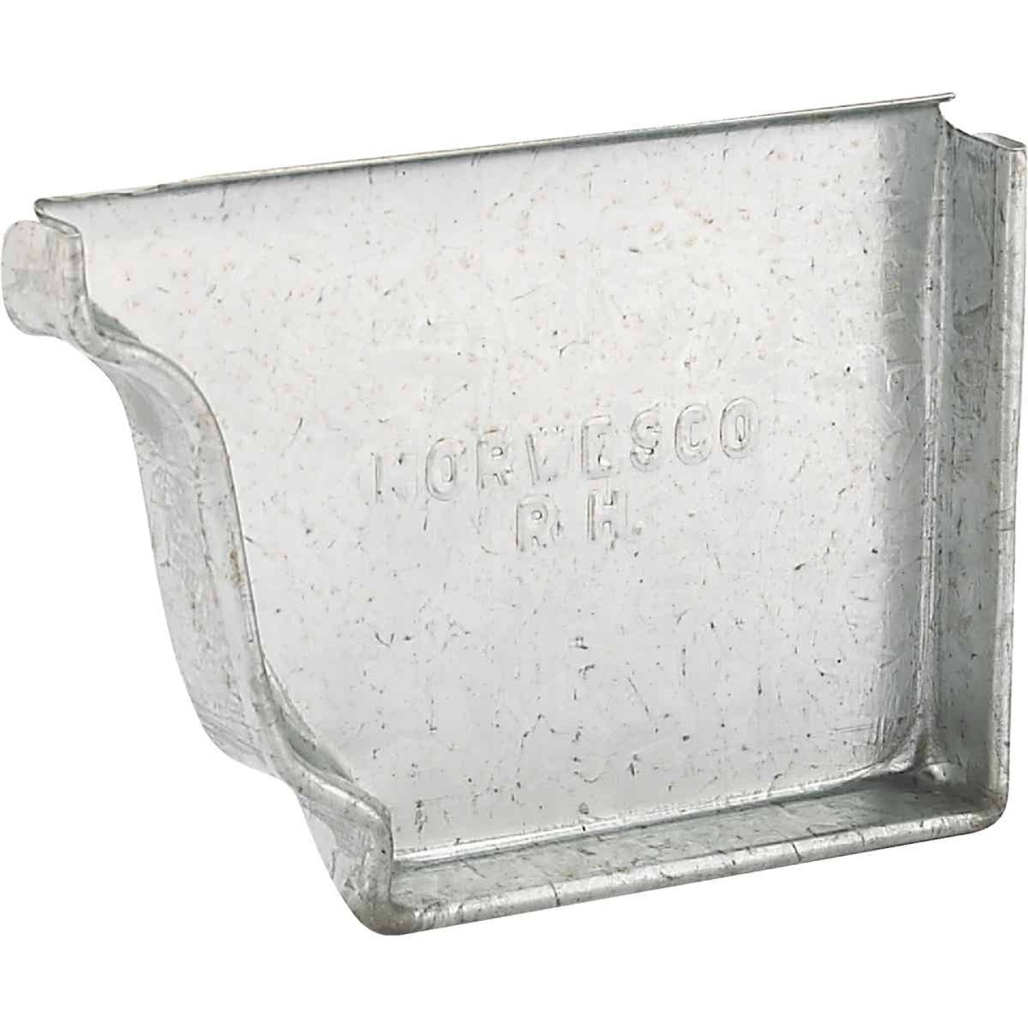 NorWesco 4 In. Galvanized Right Gutter End Cap Image 1