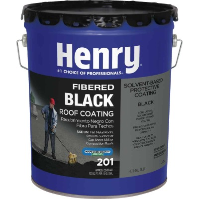 Henry 5 Gal. Fibered Asphalt Roof Coating