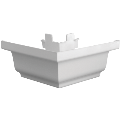 Repla K 5 In. Vinyl White Gutter Outside Corner