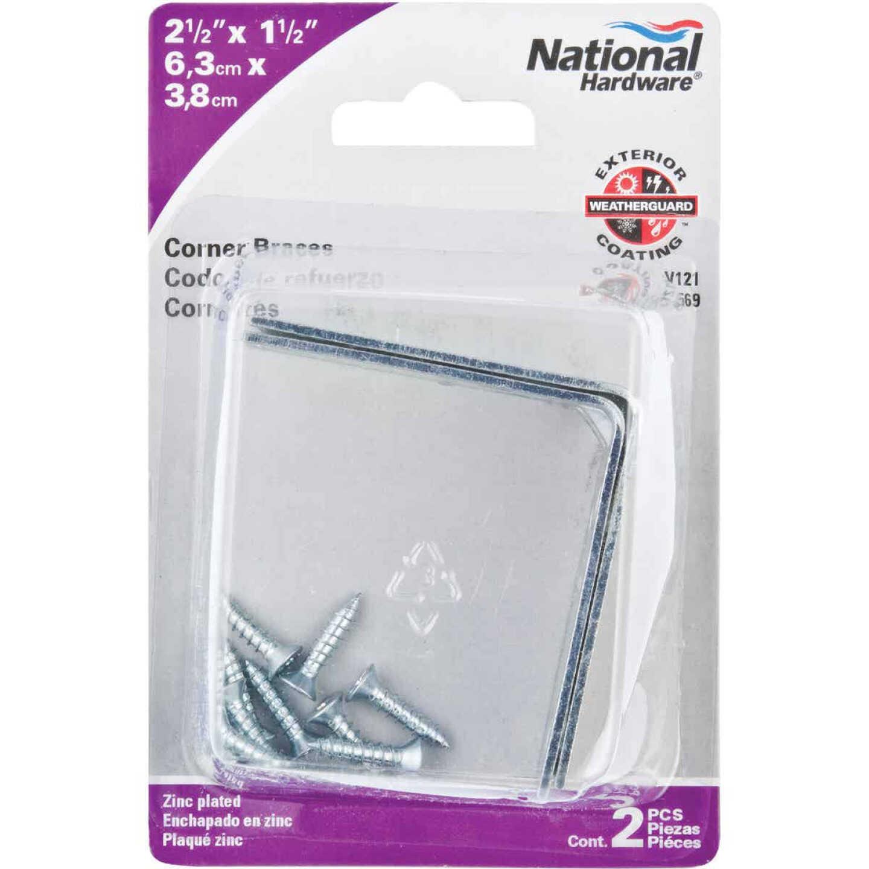 National Catalog V121 2-1/2 In. x 1-1/2 In. Double Wide Zinc Corner Brace Image 2