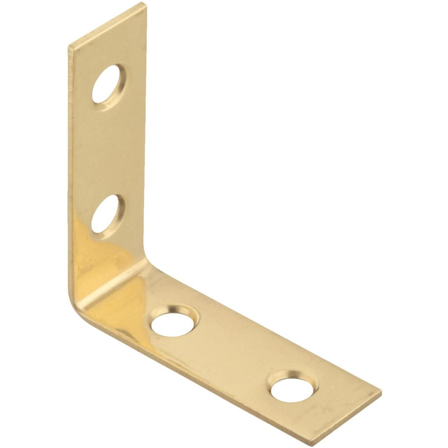 National Catalog V1875 1-1/2 In. x 5/8 In. Solid Brass Corner Brace Image 1