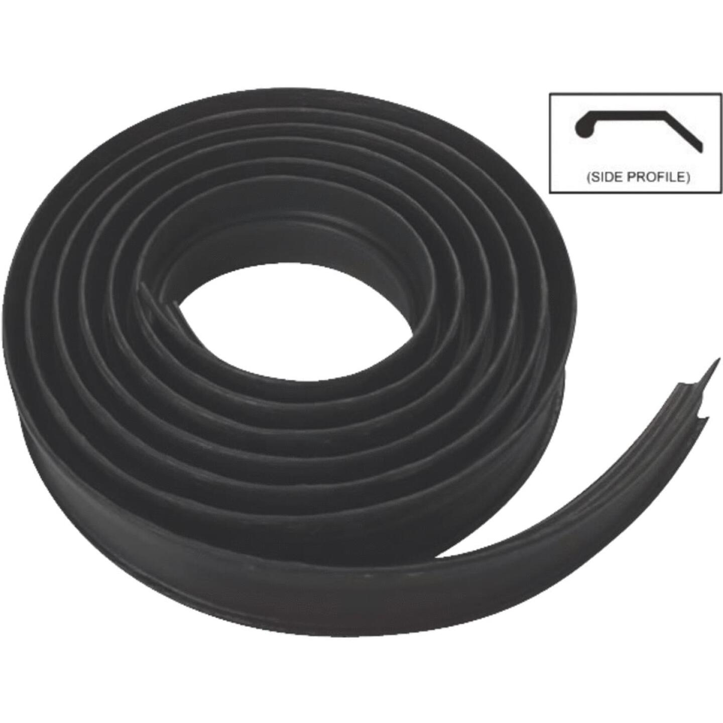 National Garage Door 10 Ft. Black Vinyl Weatherstripping For Wood Door Image 1