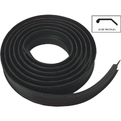 National Garage Door 16 Ft. Black Vinyl Weatherstripping For Wood Door