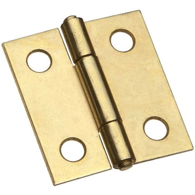 National 1-1/2 In. Brass Tight-Pin Narrow Hinge (2 Count)