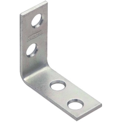 National Catalog V115 1-1/2 In. x 5/8 In. Zinc Steel Corner Brace (4-Count)