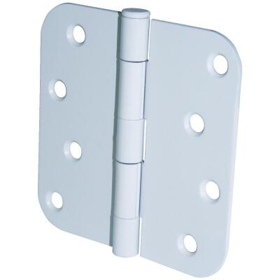 Ultra Hardware 4 In. x 5/8 In. Radius White Door Hinge (3-Pack)
