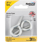 National #4 Zinc Large Screw Eye (3 Ct.) Image 2
