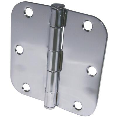 Ultra Hardware 3-1/2 In. x 5/8 In. Radius Polished Chrome Door Hinge (3-Pack)