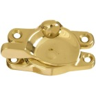 National Double Hung Polished Brass Sash Lock Image 1