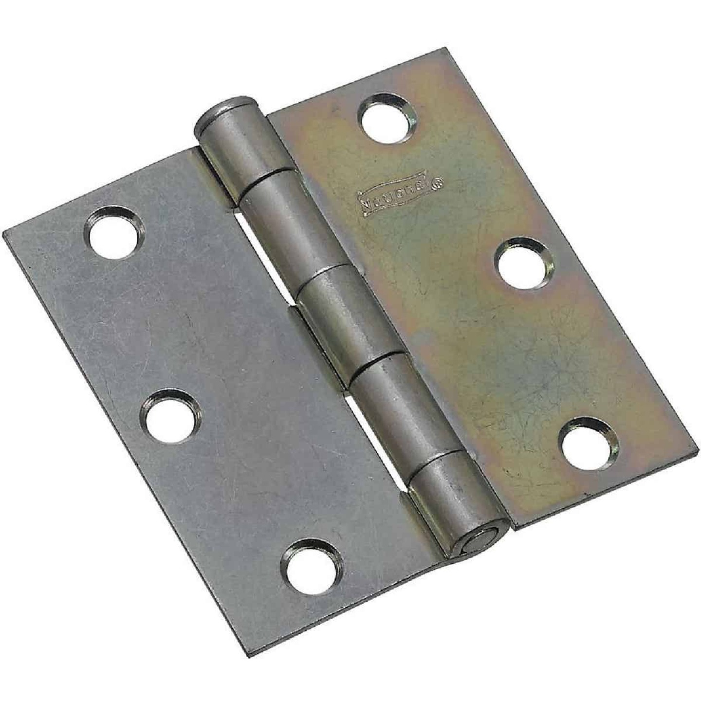National 3 In. Square Zinc Plated Steel Broad Door Hinge (2-Pack) Image 1