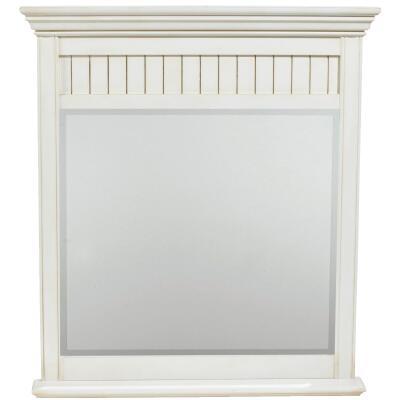 Sunny Wood Bristol Beach White 36 In. W. X 40 In. H. Vanity Mirror