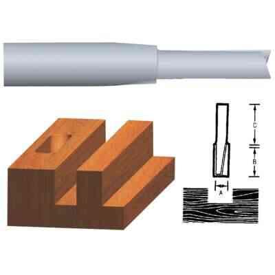 Vermont American Carbide Tip 1/4 In. Straight Bit
