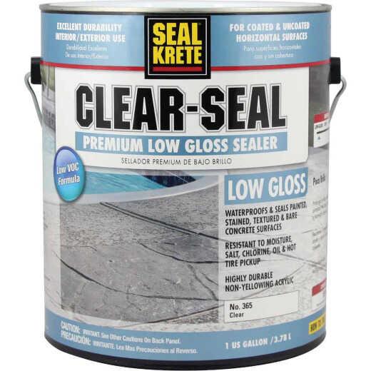 Seal Krete Clear-Seal Low VOC Acrylic Concrete Sealer, 1 Gal.