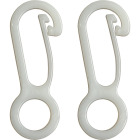 Valley Forge White Nylon Flag Clip (2-Pack) Image 1